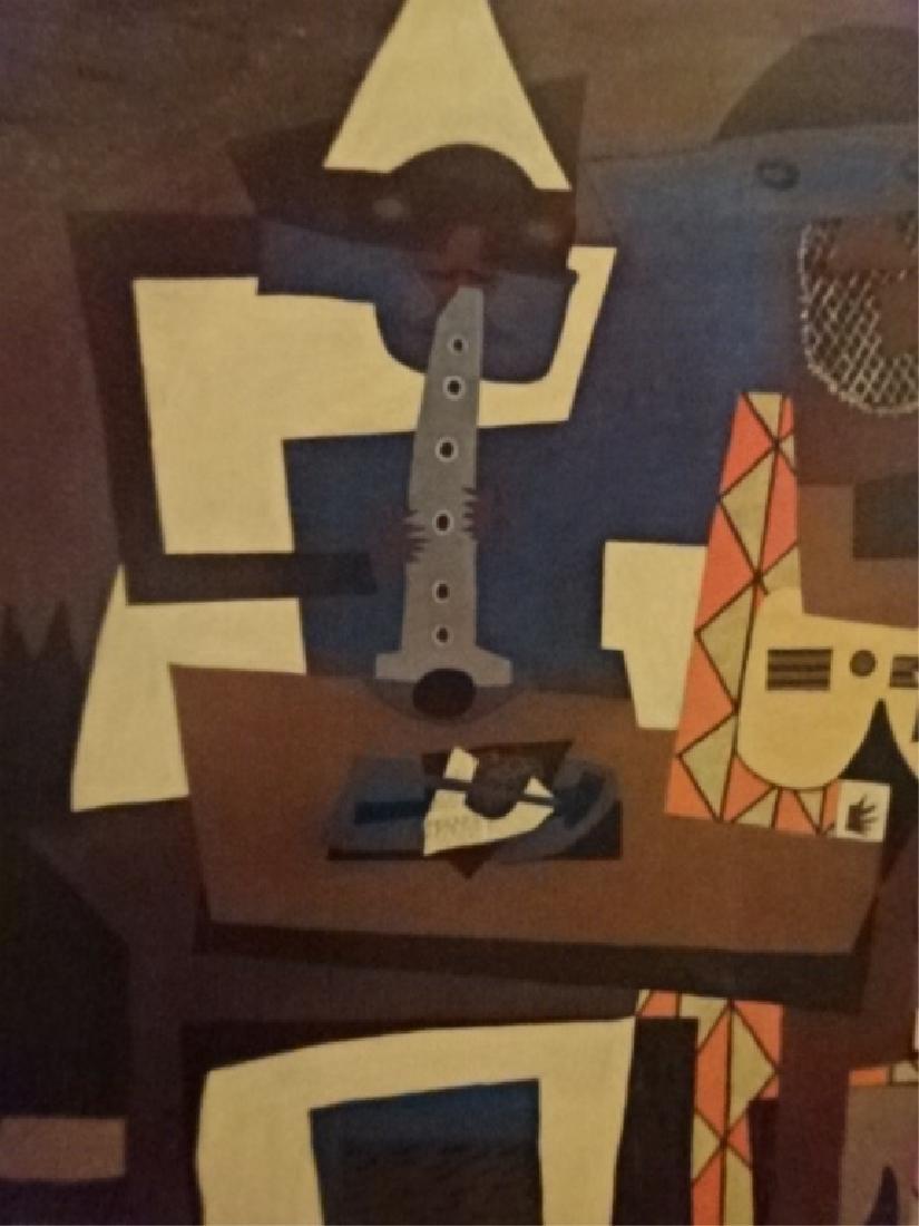 AFTER PABLO PICASSO PRINT, THREE MUSICIANS, ORIGINAL - 4