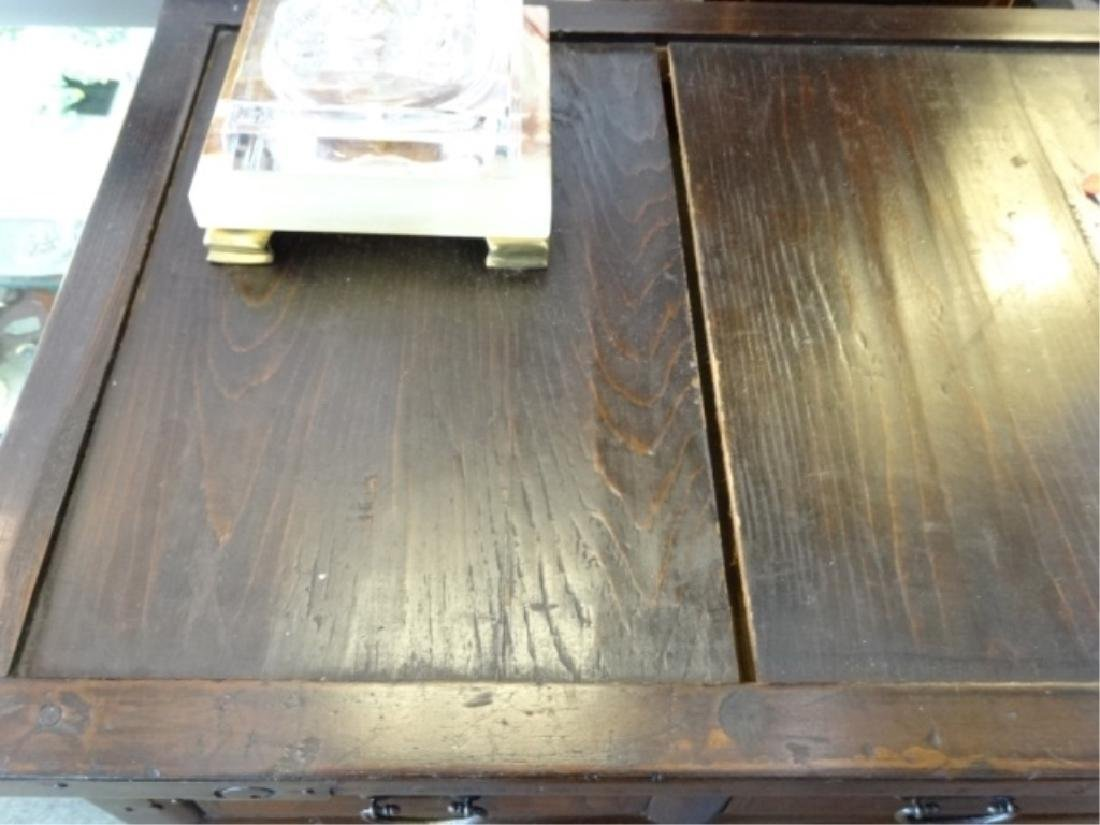 VINTAGE KOREAN WOOD AND METAL CHEST, 4 DRAWERS ABOVE 2 - 5