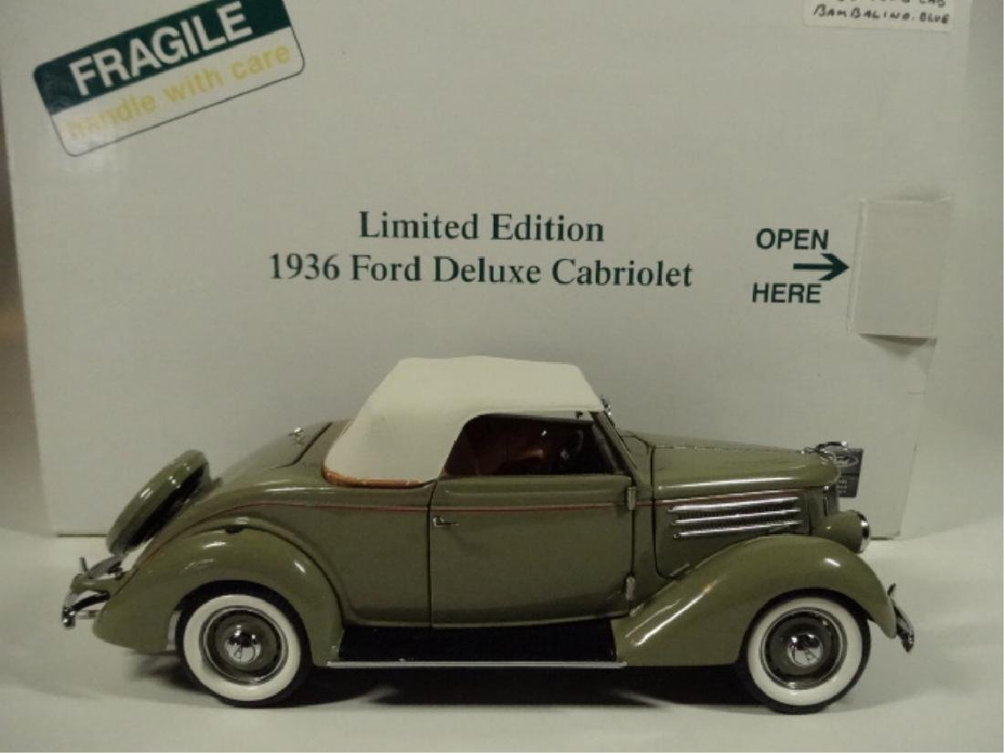 1936 FORD DELUXE CABRIOLET, MINT CONDITION, LIMITED - 8
