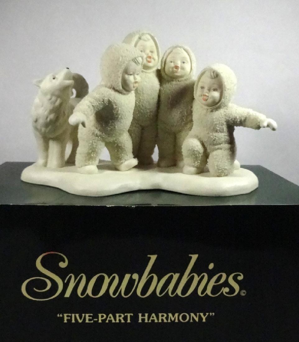 """SNOWBABIES BISQUE PORCELAIN FIGURINE, """"FIVE PART - 5"""