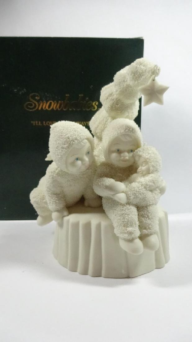 "SNOWBABIES BISQUE PORCELAIN FIGURINE, ""I'LL LOVE YOU - 2"