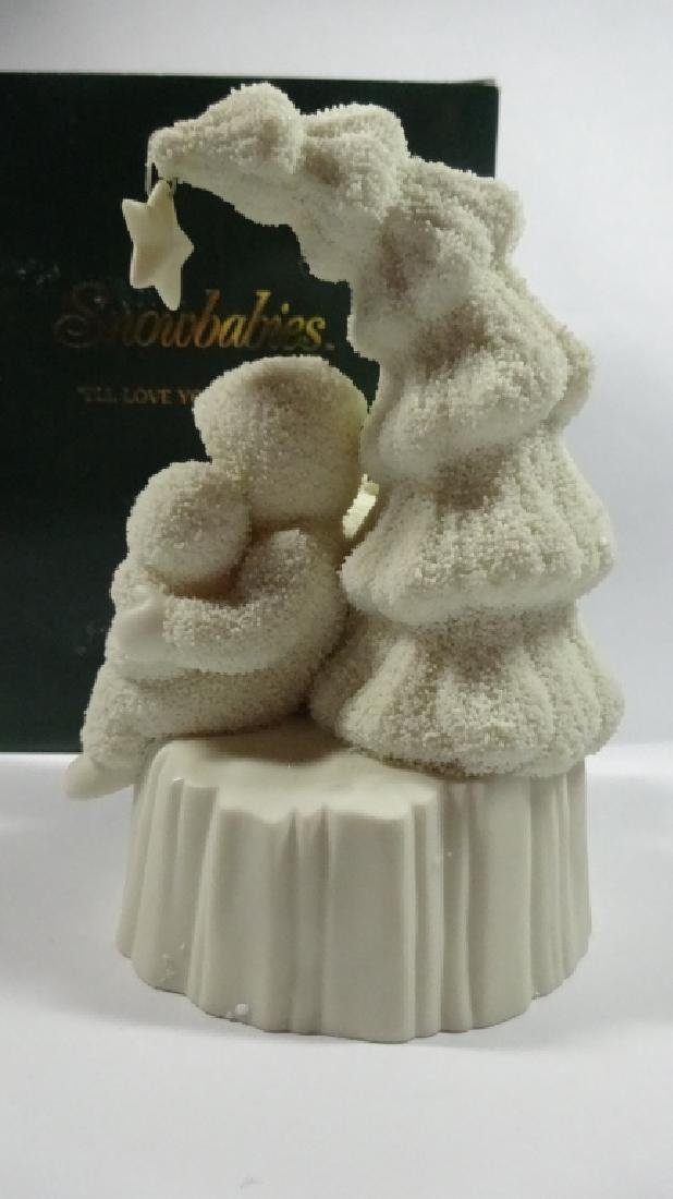 "SNOWBABIES BISQUE PORCELAIN FIGURINE, ""I'LL LOVE YOU - 4"