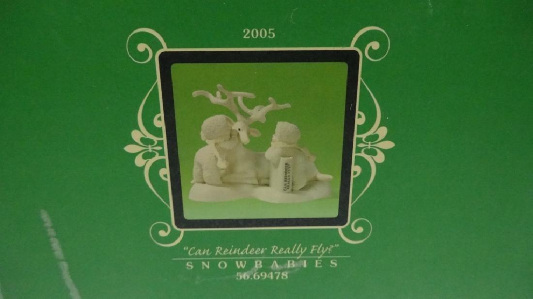 """SNOWBABIES BISQUE PORCELAIN FIGURINE, """"CAN REINDEER - 3"""