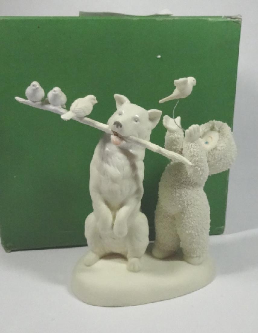 """SNOWBABIES BISQUE PORCELAIN FIGURINE, """"PET TRICKS"""","""