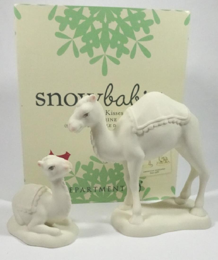 "2 PC SNOWBABIES BISQUE PORCELAIN FIGURINE SET, ""CAMEL"