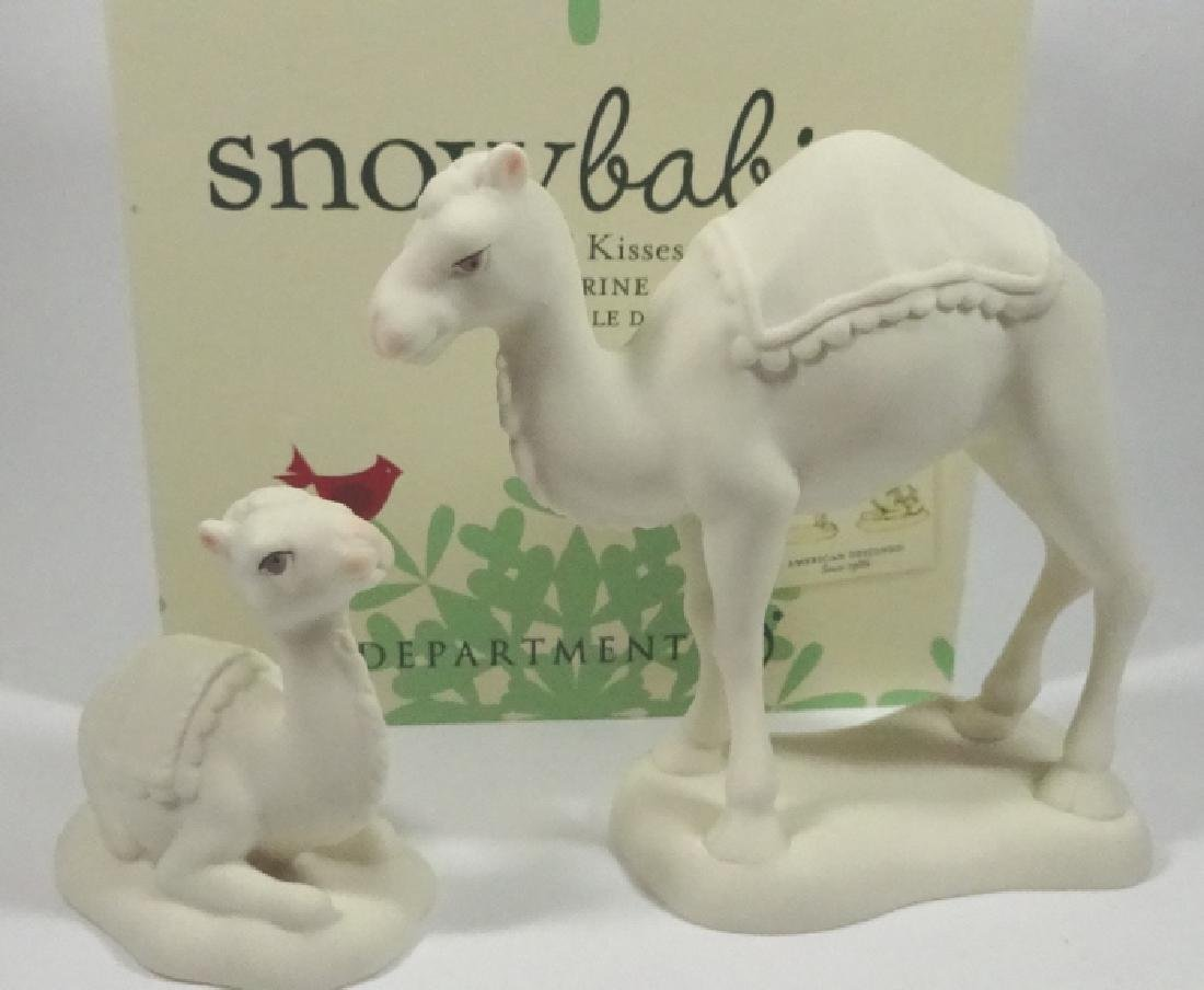 "2 PC SNOWBABIES BISQUE PORCELAIN FIGURINE SET, ""CAMEL - 2"