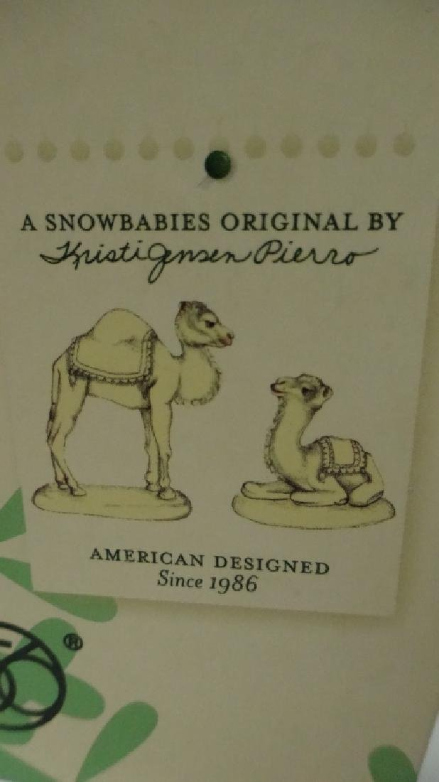 "2 PC SNOWBABIES BISQUE PORCELAIN FIGURINE SET, ""CAMEL - 6"