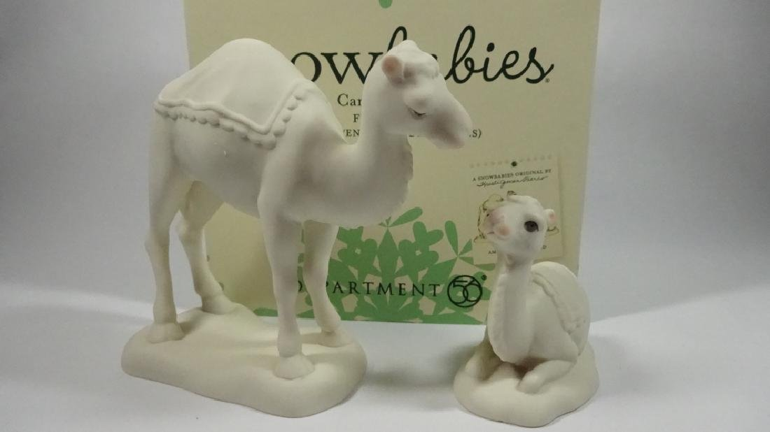 "2 PC SNOWBABIES BISQUE PORCELAIN FIGURINE SET, ""CAMEL - 7"