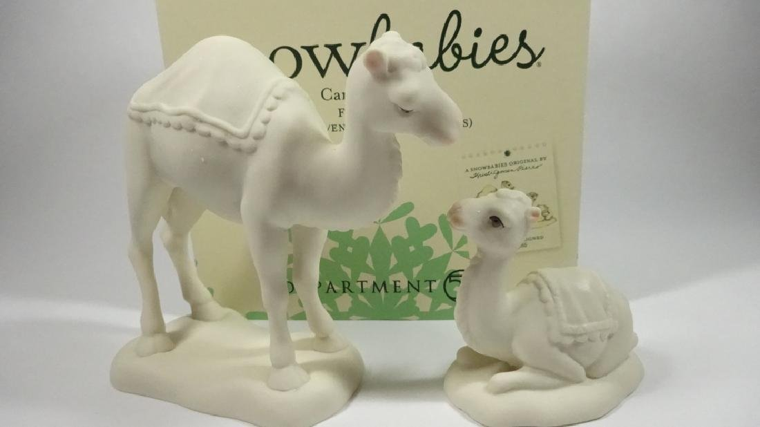 "2 PC SNOWBABIES BISQUE PORCELAIN FIGURINE SET, ""CAMEL - 8"