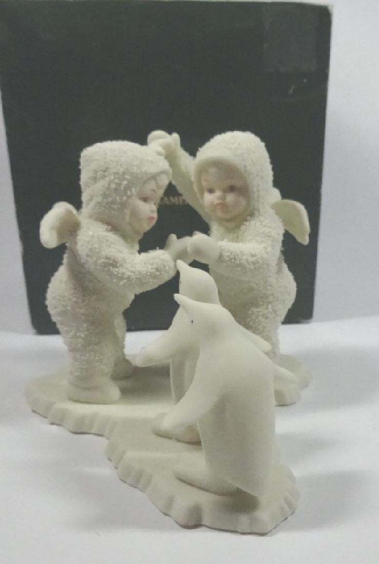 "SNOWBABIES BISQUE PORCELAIN FIGURINE, ""PLAYING GAMES IS"