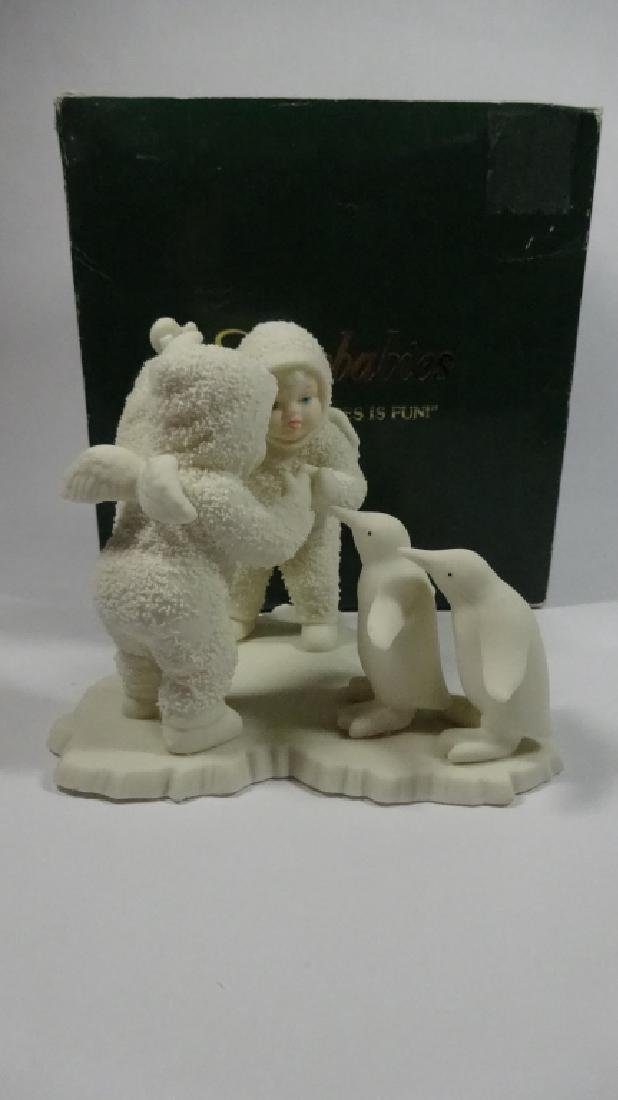 "SNOWBABIES BISQUE PORCELAIN FIGURINE, ""PLAYING GAMES IS - 2"