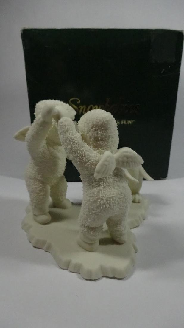 "SNOWBABIES BISQUE PORCELAIN FIGURINE, ""PLAYING GAMES IS - 3"