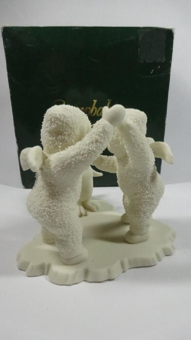 "SNOWBABIES BISQUE PORCELAIN FIGURINE, ""PLAYING GAMES IS - 4"