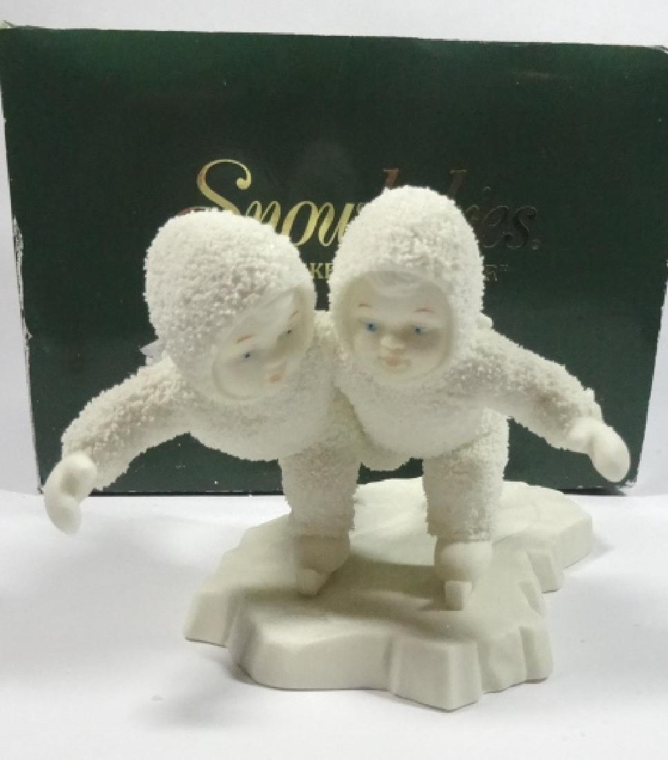 "SNOWBABIES BISQUE PORCELAIN FIGURINE, ""WE'D MAKE A"