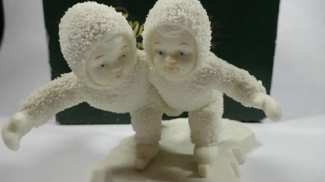 "SNOWBABIES BISQUE PORCELAIN FIGURINE, ""WE'D MAKE A - 2"