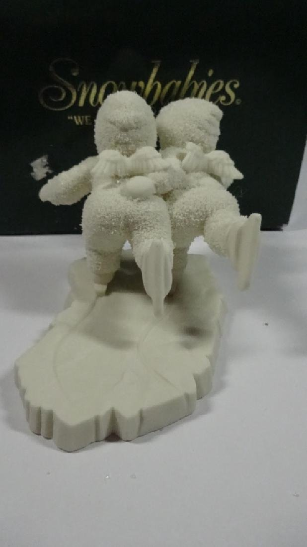 "SNOWBABIES BISQUE PORCELAIN FIGURINE, ""WE'D MAKE A - 4"