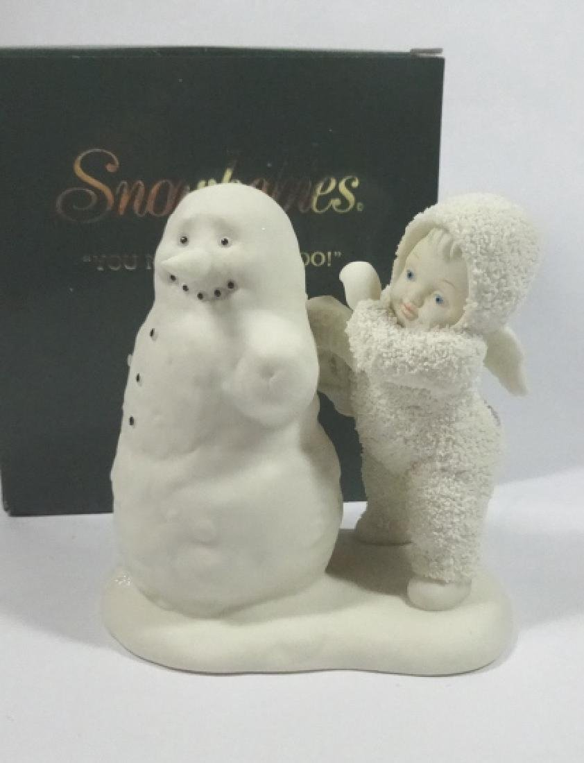 """SNOWBABIES BISQUE PORCELAIN FIGURINE, """"YOU NEED WINGS"""
