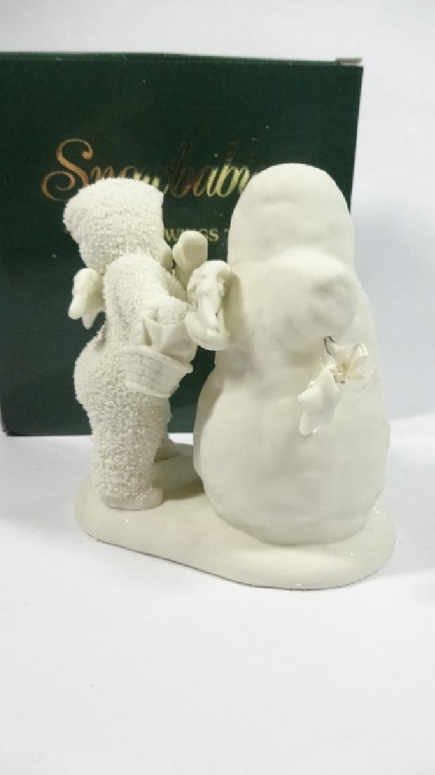 """SNOWBABIES BISQUE PORCELAIN FIGURINE, """"YOU NEED WINGS - 3"""