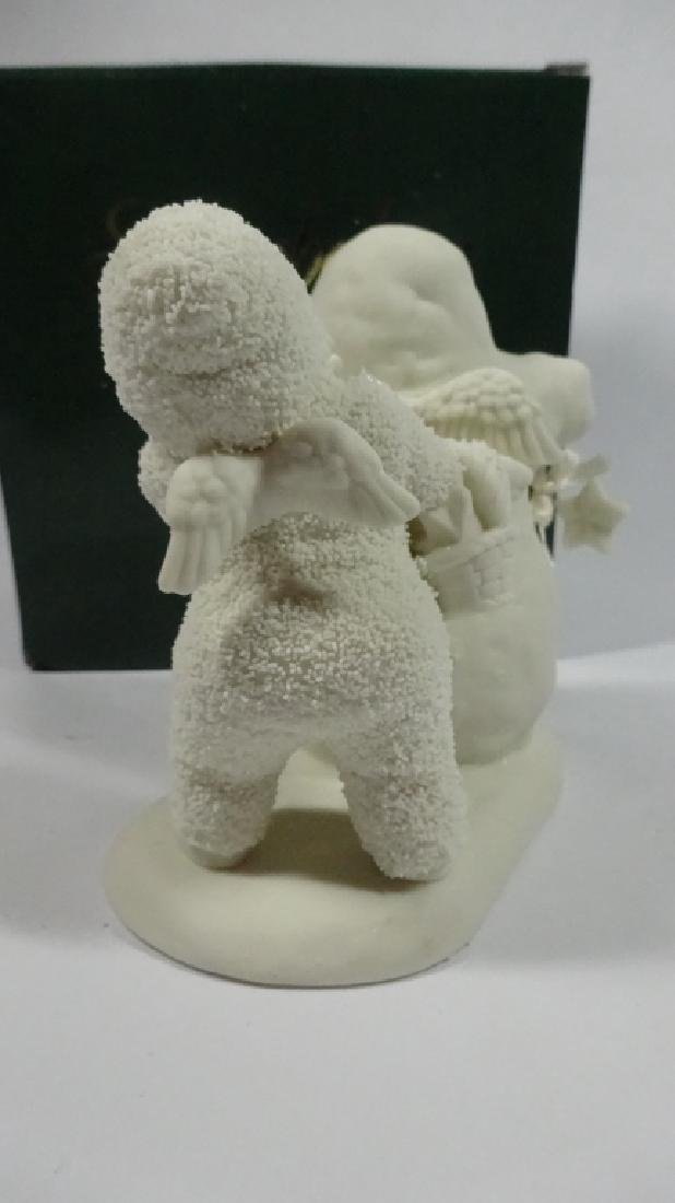 """SNOWBABIES BISQUE PORCELAIN FIGURINE, """"YOU NEED WINGS - 4"""