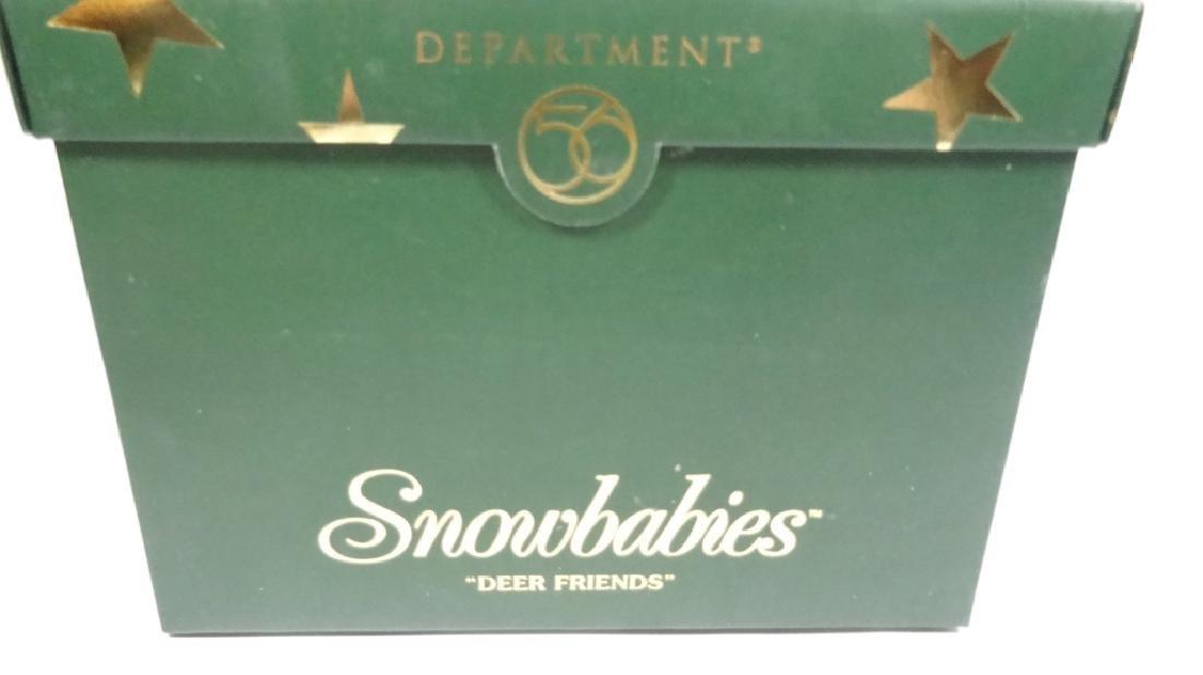 "SNOWBABIES BISQUE PORCELAIN FIGURINE, ""DEER FRIENDS"", - 8"