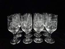 12 PC CRYSTAL STEMWARE, COLLECTIBLES FROM CALDER RACE
