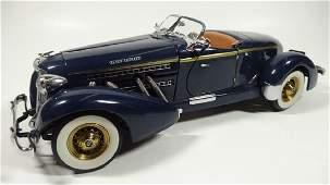 1935 AUBURN 851 BOATTAIL SPEEDSTER, 1:24 DIECAST CAR BY