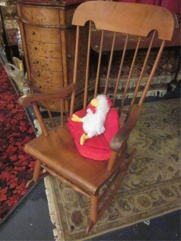 1: #1 OF TWO AVAILABLE MEDIUM FINISH ROCKING CHAIRS (SI