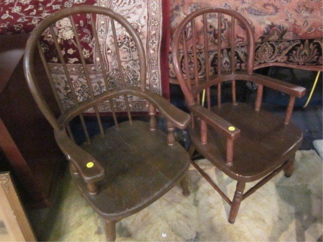 3: 2 PC LOT VINTAGE CHILDREN'S OR DOLL'S CHAIRS, APPROX