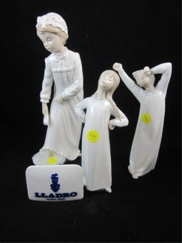 5: 4 PC GROUP OF LLADRO - 3 LLADRO PORCELAIN FIGURINES