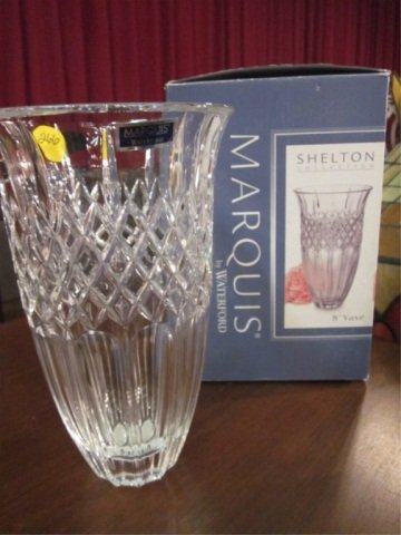 """11: MARQUIS BY WATERFORD """"SHELTON COLLECTION"""" 8"""" VASE W"""