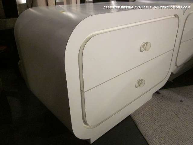 39: PAIR OF RETRO 1970's STYLE 2 DRAWER CHESTS WITH LUC