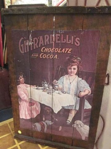 7: RETRO STYLE REPRODUCTION GHIRADELLI CHOCOLATE ADVERT
