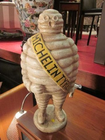 "17: MICHELIN MAN SCULPTURE, WITH ""MICHELIN TYRES"" BANNE"