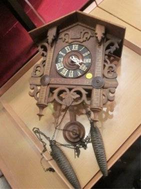 2: WOODEN CUCKOO CLOCK, MADE IN GERMANY