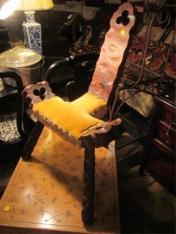 5: VINTAGE 1970'S TRI-LEG LEATHER SEAT STOOL