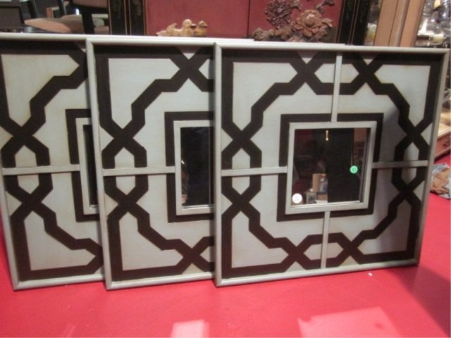 24: 3 PC SET NEW NEVER USED CONTEMPORARY WALL MIRRORS,