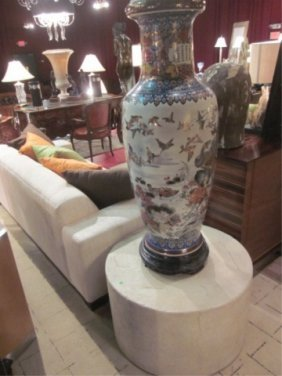 #1 OF TWO AVAILABLE BERNHARDT FAUX STONE COFFEE OR