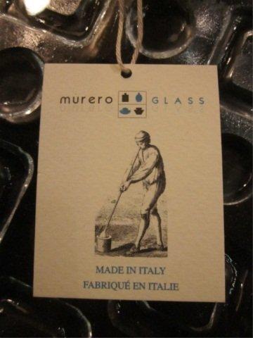 253: MURERO GLASS CLEAR ART GLASS PLATTER, MADE IN ITAL - 3