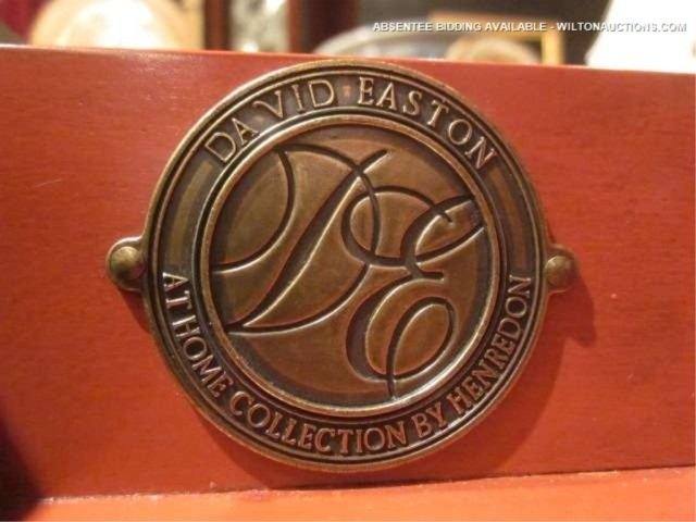 59: HENREDON LEATHER TOP DESK BY DESIGNER DAVID EASTON, - 7