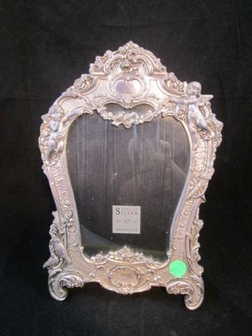 """69: STERLING SILVER PICTURE FRAME, APPROX 11 3/4"""" HIGH"""