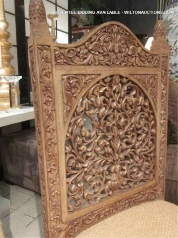 128: PAIR OF ORNATE INTRICATELY CARVED CHAIRS WITH GRIF - 6
