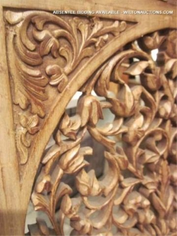 128: PAIR OF ORNATE INTRICATELY CARVED CHAIRS WITH GRIF - 7