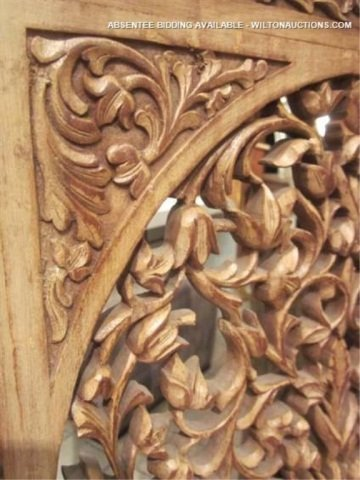 128: PAIR OF ORNATE INTRICATELY CARVED CHAIRS WITH GRIF - 8
