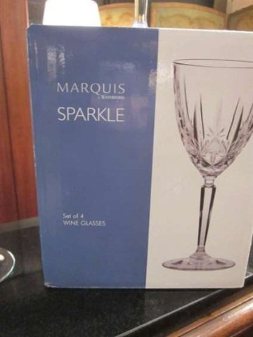"158: SET OF 8 MARQUIS BY WATERFORD ""SPARKLE"" LEAD CRYST - 6"