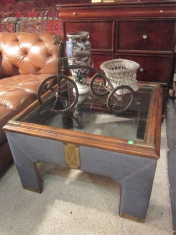 4A: RALPH LAUREN DENIM COLLECTION COFFEE TABLE, APPROX