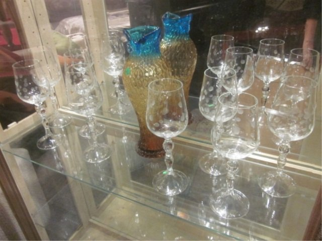 "5A: SET OF 8 ""BUBBLE"" CRYSTAL WINE GLASSES, APPROX 11"""