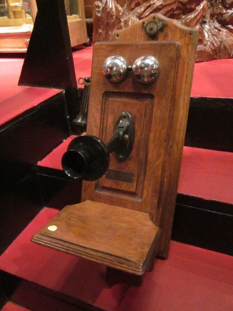 7: ANTIQUE NORTH ELECTRIC CO WALL TELEPHONE, TYPE K