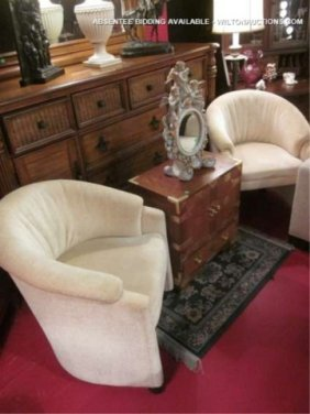 #1 OF TWO AVAILABLE PAIRS OF SWAIM FURNITURE TUB CH