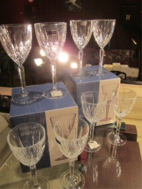 "EIGHT MARQUIS BY WATERFORD ""SPARKLE"" CRYSTAL WINE G"