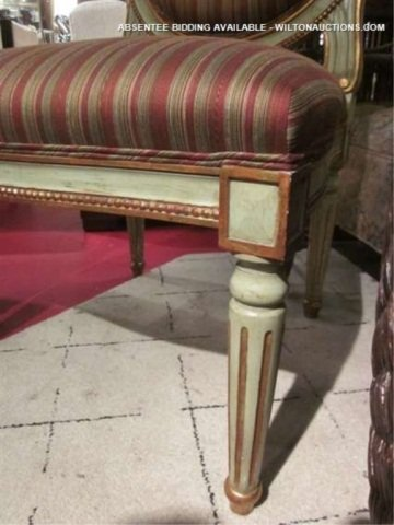 69: PAIR OF FRENCH LOUIS XVI STYLE CHAIRS WITH VERDIGRI - 2